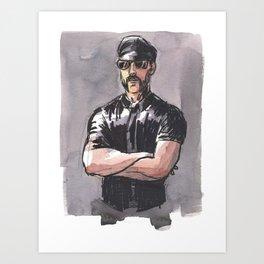 JAMES, Leather Daddy by Frank-Joseph Art Print