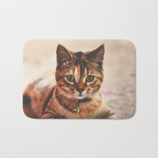 Cute Young Tabby Cat Kitten Kitty Pet Bath Mat