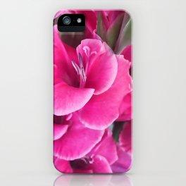 Dark Pink Gladiolas iPhone Case