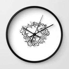 Sheep Lineart Wall Clock