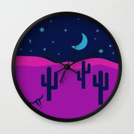 Modern Desert Cactus Scene #desert #cactus Wall Clock
