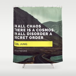 Carl Jung Order Chaos Shower Curtain