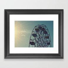 Adventure is Waiting Framed Art Print