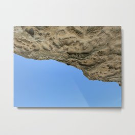 Hanging rock by the sea, Kamay Botnay Bay National park, NSW Metal Print