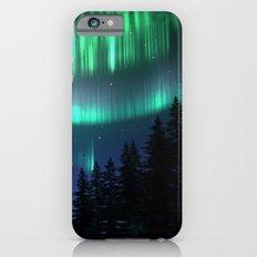 Aurora Borealis Forest iPhone 6s Slim Case
