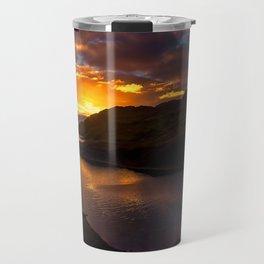 Camas nan Geall Sunset Ardnamurchan Scotland Travel Mug