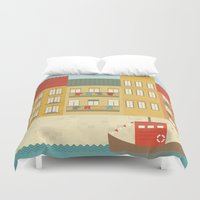 portugal Duvet Covers featuring Portugal by Kakel