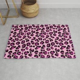 Leopard-Pink+Black+Purple Rug