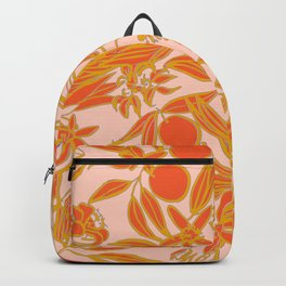 Orange Blossoms on Peach Backpack