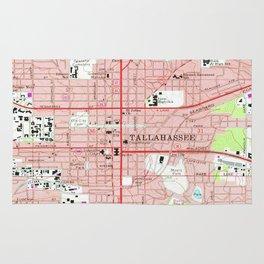 Tallahassee Florida Map.Tallahassee Florida Rugs Society6