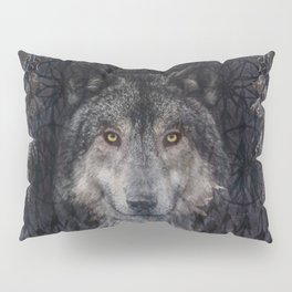 The Winter is here - Wolf Dreamcatcher Pillow Sham