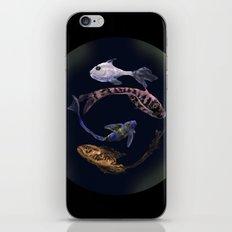YIN AND YANG- BLACK iPhone & iPod Skin