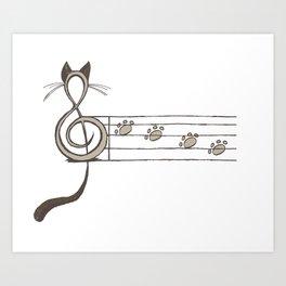 Musicat Art Print
