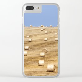 Field with a crop of cereals Clear iPhone Case