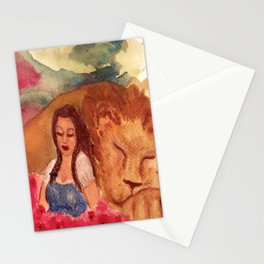 Poppies and Sleep Stationery Cards