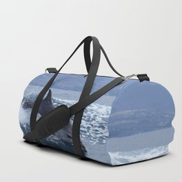 Wild and free bottlenose dolphin Duffle Bag