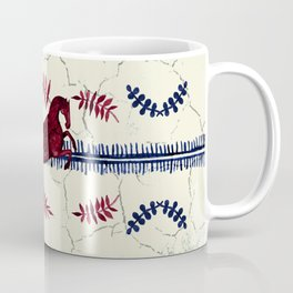 Ancient Greek Fresco - Navy & Red Coffee Mug