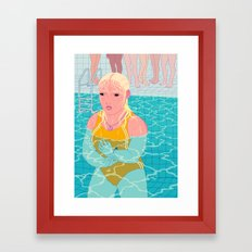 Swim Class Framed Art Print