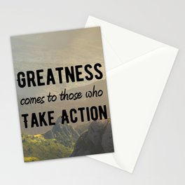 Motivational Poster - Take Action! Stationery Cards