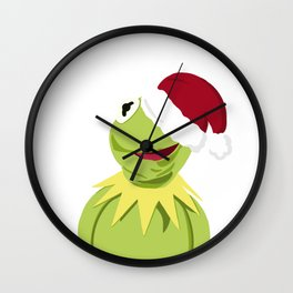 Santa Kermit - The Optimistic Christmas Frog Wall Clock