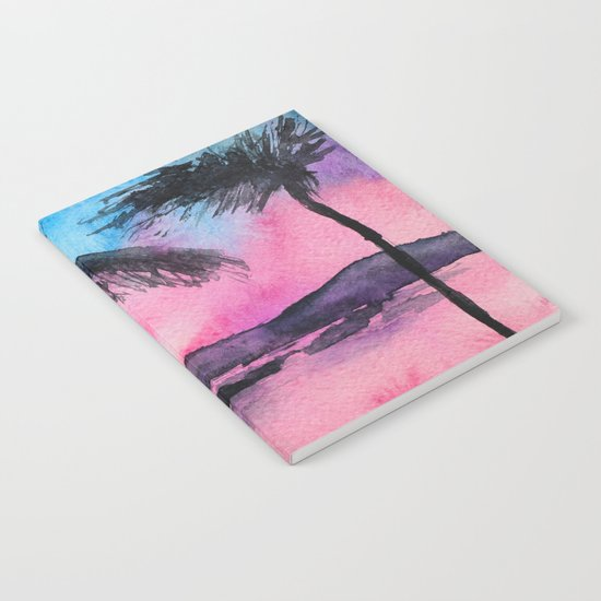 Tropical sunset || watercolor Notebook