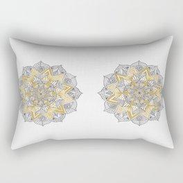 double gold mandala Rectangular Pillow