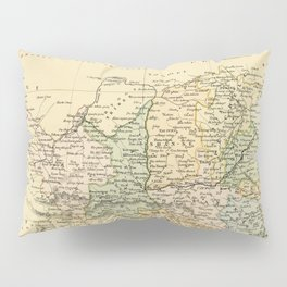 Vintage Map of The North Of China Pillow Sham