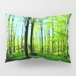 Sky Blue Morning Forest Pillow Sham