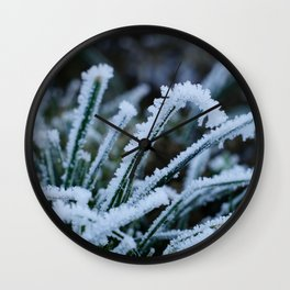 Frosted Grass Wall Clock