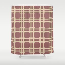 Plum Spice Moods Lattice Shower Curtain