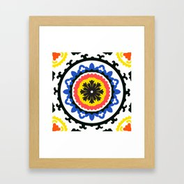 Bold and bright beauty of suzani patterns ver.9 Framed Art Print