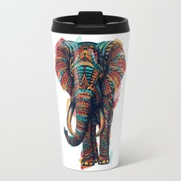 Ornate Elephant (Watercolor) Travel Mug