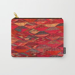 V35 Red Traditional Moroccan Artwork Pattern Carry-All Pouch
