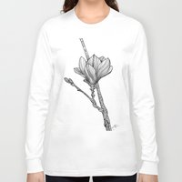 magnolia Long Sleeve T-shirts featuring Magnolia by Helena Areman