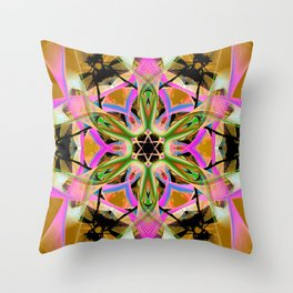 Thoughts Drawn On Gold Mandala Throw Pillow
