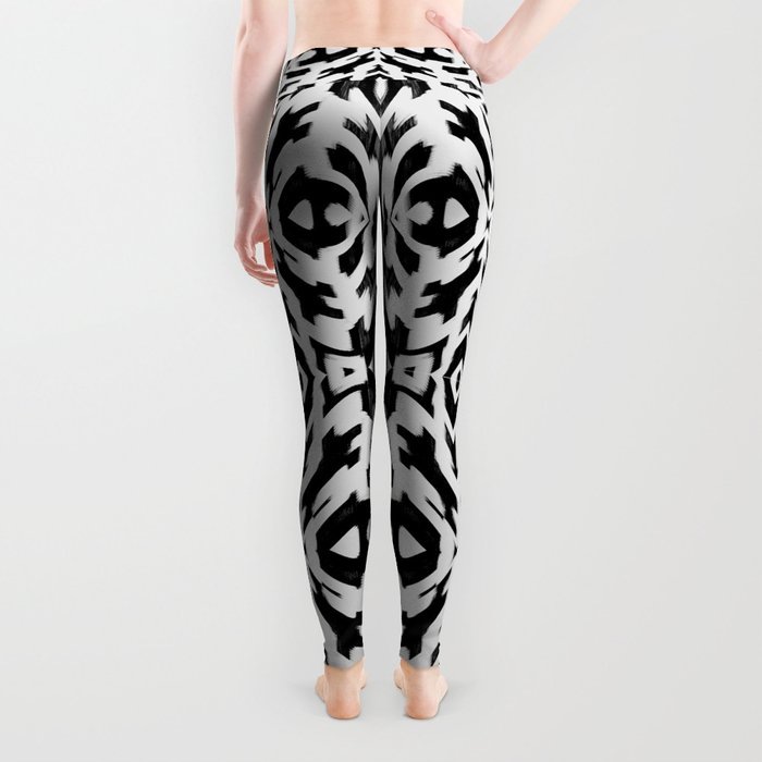 Arrow Tribe Black & White Leggings