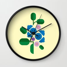 Fruit: Blueberry Wall Clock