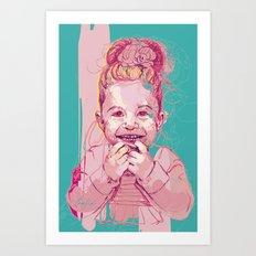 Digital Drawing #27 - Child Portrait Art Print