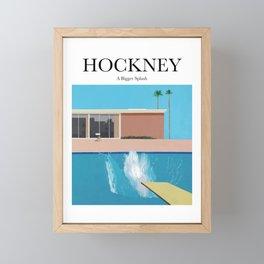 Hockney - A Bigger Splash Framed Mini Art Print