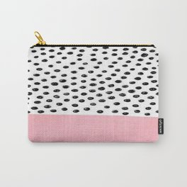 Pink Black Dalmation Polka Dots Carry-All Pouch
