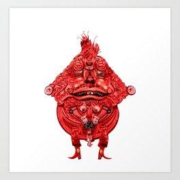 Creepy Door Knocker Guy Art Print