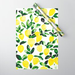 Summer Lemons Wrapping Paper
