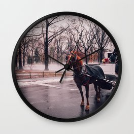 NYC Horse and Carriage Wall Clock