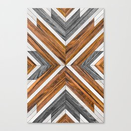 Urban Tribal Pattern 4 - Wood Canvas Print