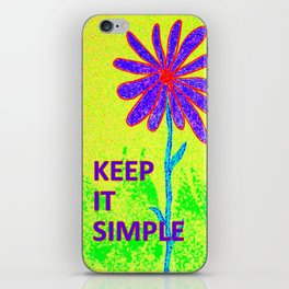 Wildflower Keep It Simple iPhone Skin