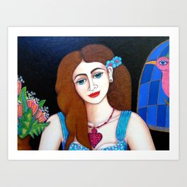 Eve closer Art Print