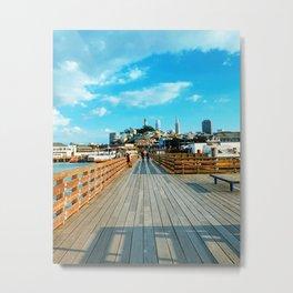San Francisco Wharf Metal Print