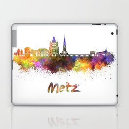 Metz skyline in watercolor Laptop & iPad Skin