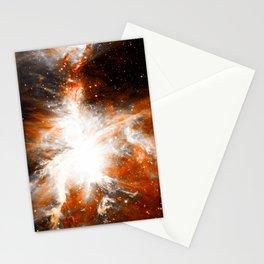 Orion Nebula Long Orange Gray Stationery Cards