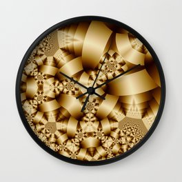 Golden shapes and patetrns in 3-D Wall Clock